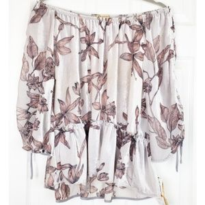 NWT DEMOCRACY of the shoulder blouse size S